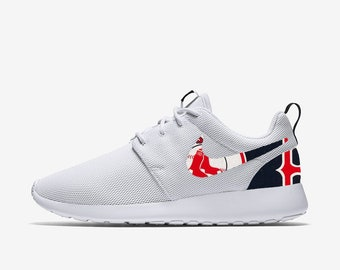 030397b5982fe Boston Red Sox Custom Nike Roshe One
