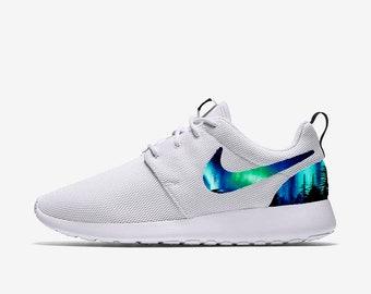 910a4ce7837055 Aurora Borealis Custom Nike Roshe One