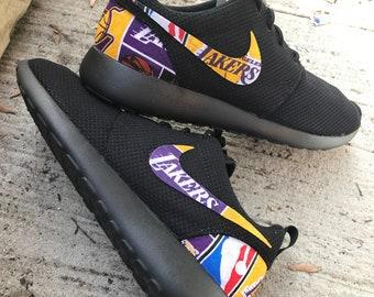 6b421cfec373 Los Angeles Lakers Custom Nike Roshe One