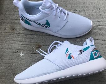 b616a3de72cb Miami Dolphins Custom Nike Roshe One
