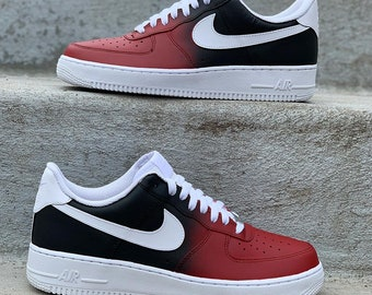 255a2a5ec9a5 Dark Side Fade Custom Nike Air Force 1