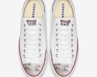 5bd6696655f Converse All Star blanke vrouwen schoenen Swarovski kristallen