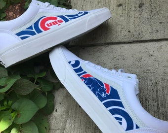 850d7f294d1 Chicago Cubs Custom Vans Old Skool