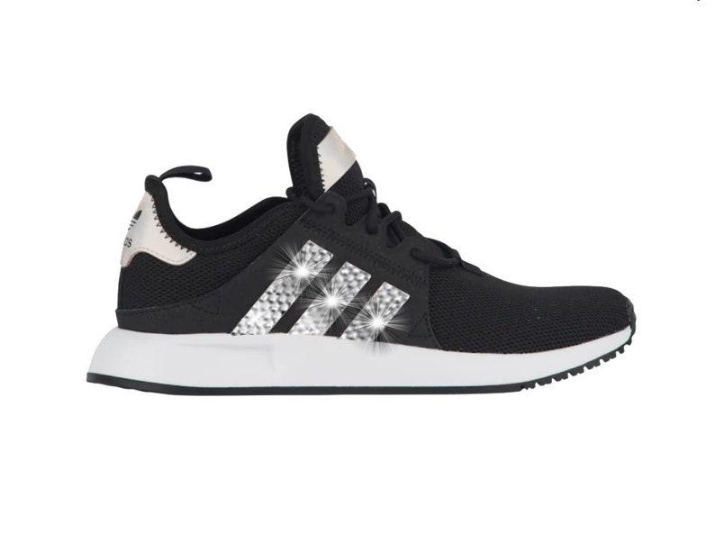 Adidas XPLR schwarzweiß Mädchen Damen Schuhe mit Swarovski Kristallen
