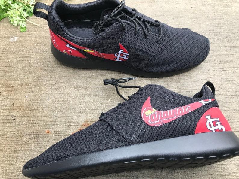 wholesale dealer 5582c 93fff St. Louis Cardinals Custom Nike Roshe One   Etsy