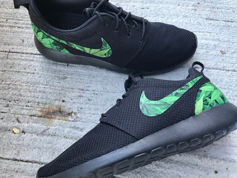 detailed look 0863b c0df1 Cannabis Custom Nike Roshe One   Etsy