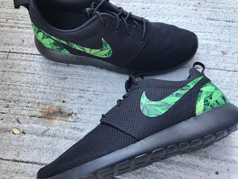 detailed look 89a91 65bc9 Cannabis Custom Nike Roshe One   Etsy