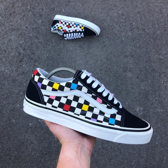 Color Me Custom Checkerboard Vans Old Skool