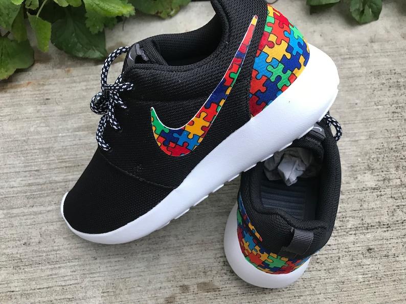 detailing 03a1f 5c4ec Autism Awareness Custom Nike Roshe One   Etsy