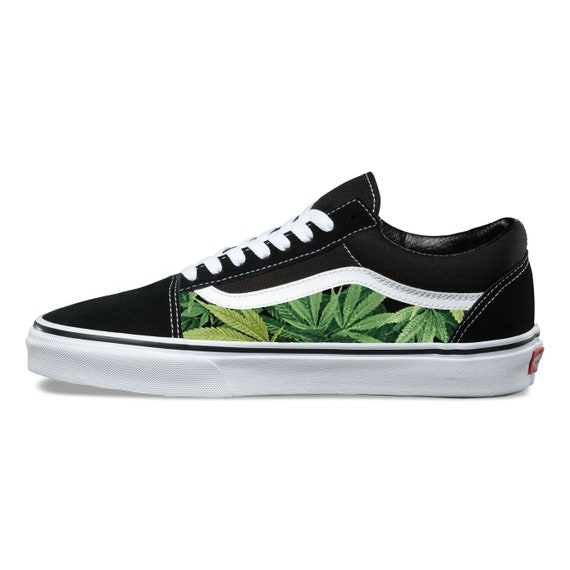 Cannabis Custom Vans Old Skool