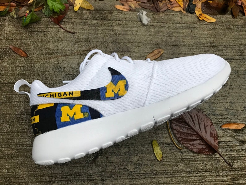 Michigan Wolverines Custom Nike Roshe One
