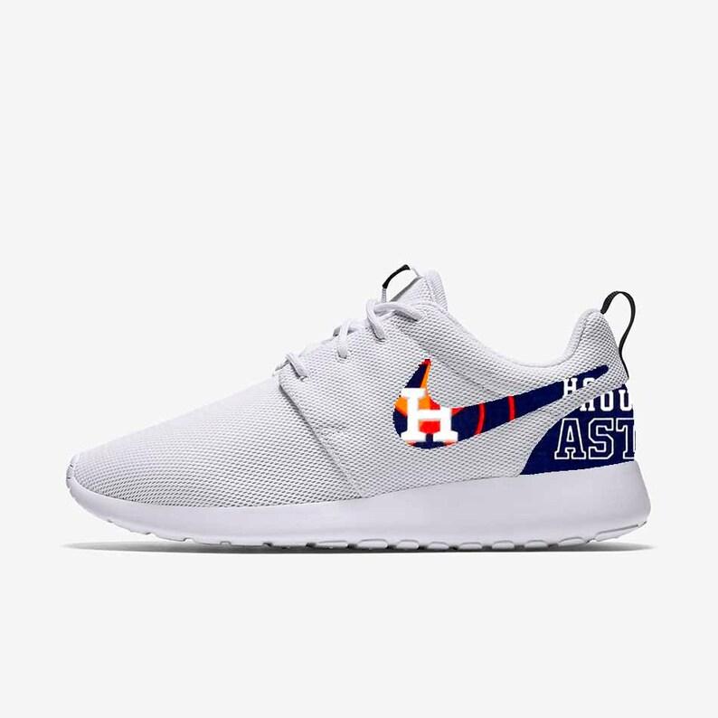 promo code d2a79 6c922 Houston Astros Custom Nike Roshe One   Etsy
