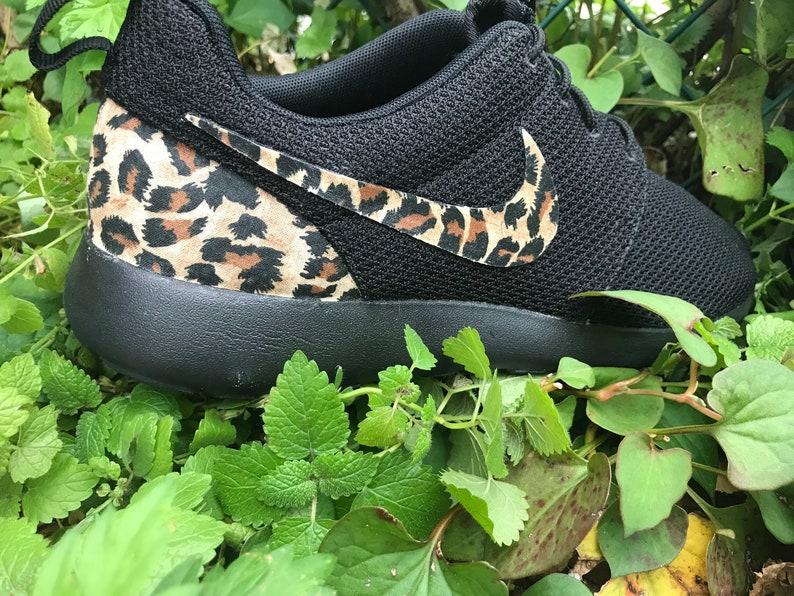 new concept 9b7f5 9242a Cheetah Custom Nike Roshe One   Etsy