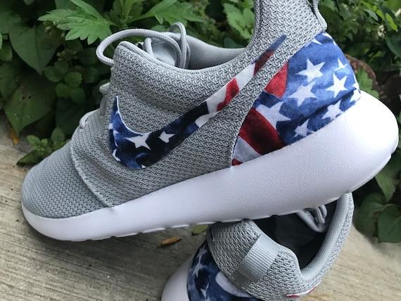 Drapeau Drapeau Drapeau américain personnalisé Nike Roshe One 24edec