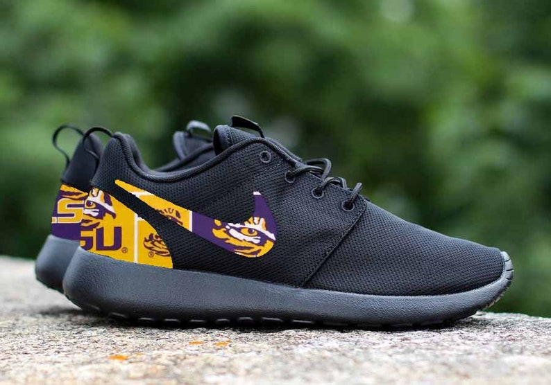 efa17c63b8c2 LSU Tigers Custom Nike Roshe One