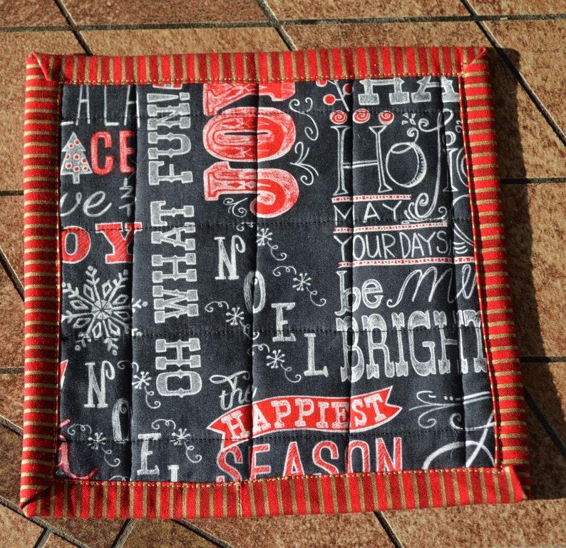 Chalkboard Holiday Mug Rugs