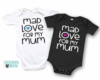 Personalised I Love My Mum Bodysuit