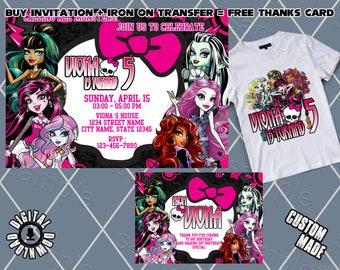 Monster High Invitation Birthday Party Invitations Invite Printables Card