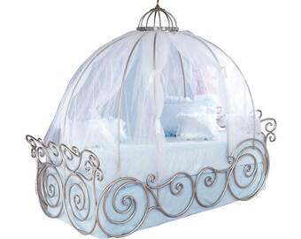 Disney Prinzessin Kutsche Bett Baldachin Schiere Netting   Rosa