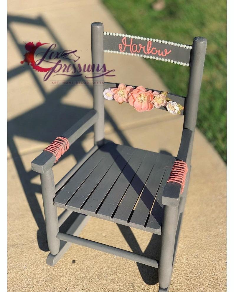 Surprising Personalized Child Rocking Chair Inzonedesignstudio Interior Chair Design Inzonedesignstudiocom