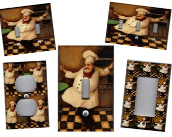 Fat Chef Sipping Coffee Novelty Fashion Wall Clock size options available