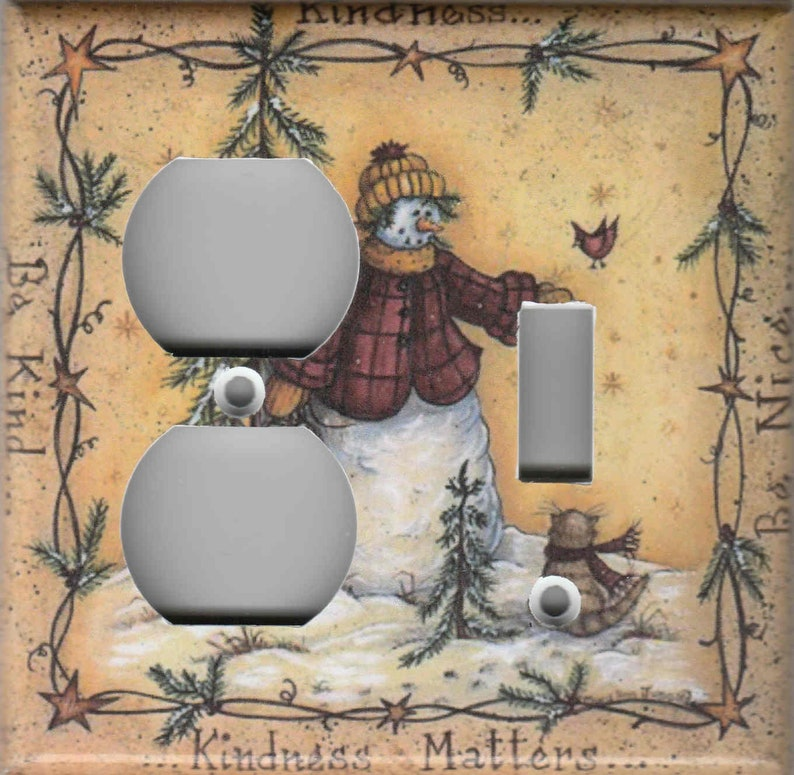 COUNTRY SNOWMAN CHRISTMAS Home Wall Decor Light Switch Plates and Outlets