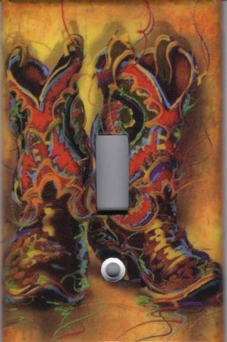 COWBOY BOOTS Light Switch Plates and Outlets Home Decor