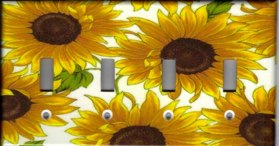 SUNFLOWERS #3 SUNFLOWERS KITCHEN HOME WALL DECOR OUTLET COVER