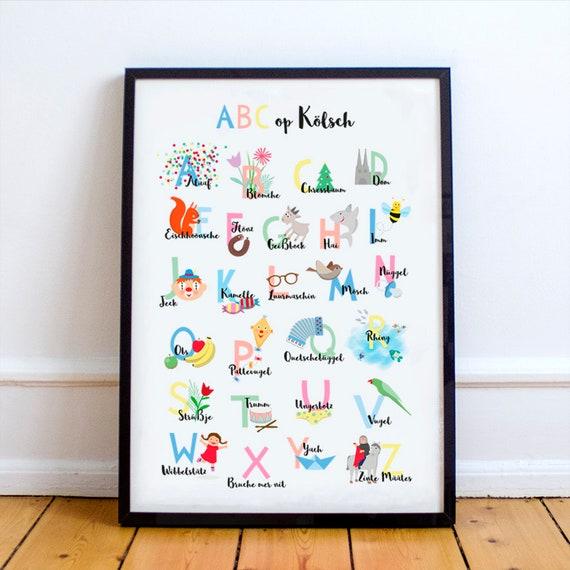 poster fur kinderzimmer, abc op kölsch din a1 poster für das kinderzimmer   etsy, Design ideen