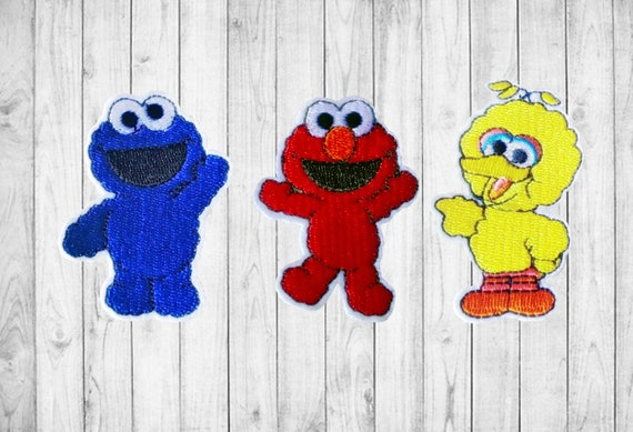 Sesame Street Characters Iron On Patch M2 Cartoon Characters Applique Embroidered Iron On Patch