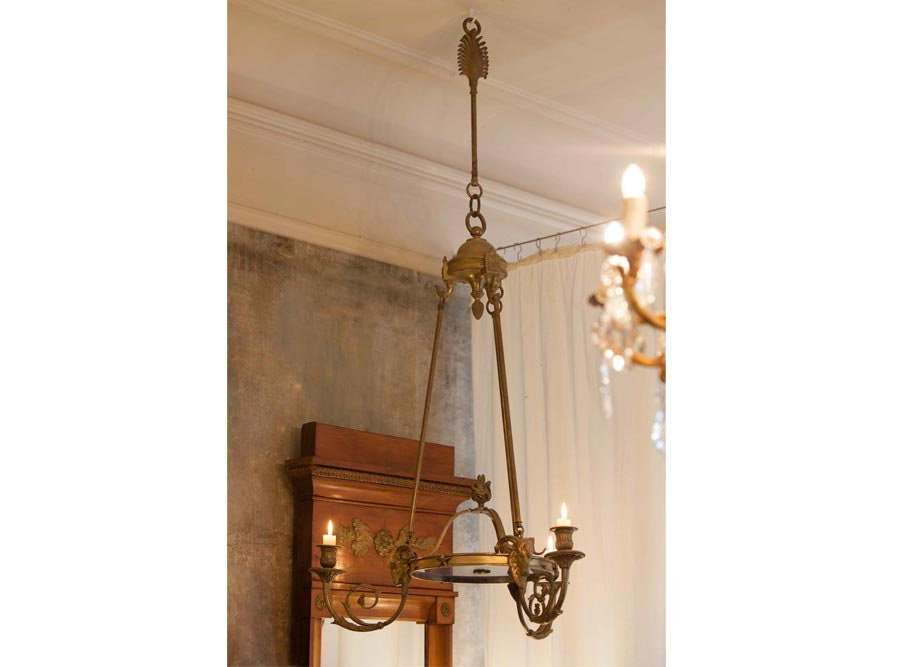 French Bronze Empire Style Chandelier, From A Chandelier