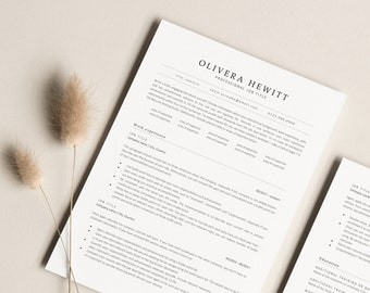 Clean ATS-optimized Resume Template, Classic ATS CV Design to Download, Minimalist Resume for Experienced Professionals and Corporate Jobs