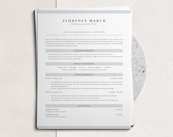 Corporate ATS-optimized Resume Template, Clean ATS CV Design to Download, Resume for Experienced Professionals and Senior Corporate Jobs
