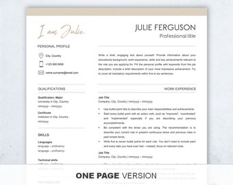 resume template free resume writing workbook 1 2 page etsy