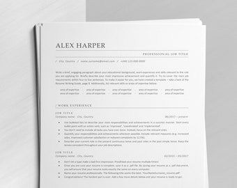 ATS Resume Template, Corporate CV for Word, Pages and Google Docs, Clean Resume for Experienced Professionals and Corporate Jobs