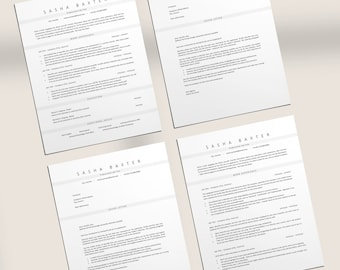 Clean Resume Template, Instant Download CV Design, Corporate Resume Template,  Professional Resume Template, ATS Resume