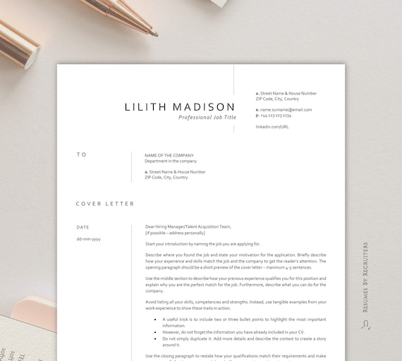 Resume Template Nurse / Instant Download CV for Healthcare / Medical Resume  Template / Resume for Doctor, Nurse, Pharmacist and Therapist