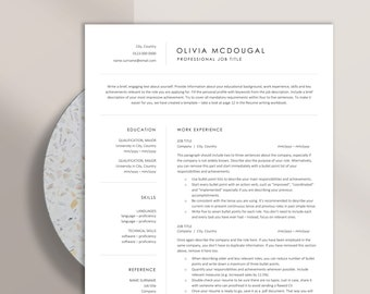 Simple and Clean Resume Template, Instant Download Clean Resume Design for Word and Pages, Professional CV Template for Corporate Jobs