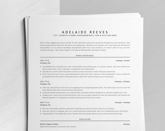 Executive Resume, ATS Resume Template, Instant Download ATS-optimized CV Design with Cover Letter and References, Classic Resume Template