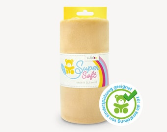 SuperSoft SHORTY (1.5 mm pile) – Ultra soft plush / cuddle fabric 100x75 cm (40x30″), camel, suitable for making toys