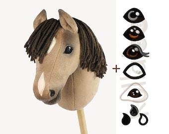 """Schnittmuster Hobby Horse """"HOLLY"""" + Stickdateien für Augen & Nüstern"""
