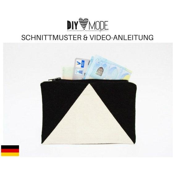 PORTEMONNAIE Schnittmuster mit Video-Anleitung / PDF Download | Etsy