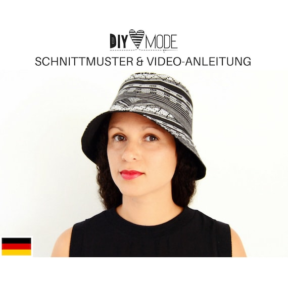 BUCKET HAT Schnittmuster mit Video-Anleitung / nähen Hut | Etsy
