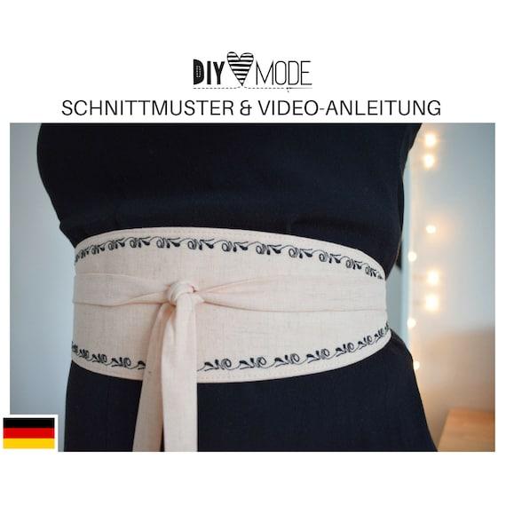 WICKELGÜRTEL Schnittmuster mit Video-Anleitung / Download   Etsy