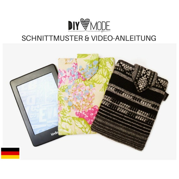 KINDLE HÜLLE Schnittmuster mit Video-Anleitung / PDF Download | Etsy