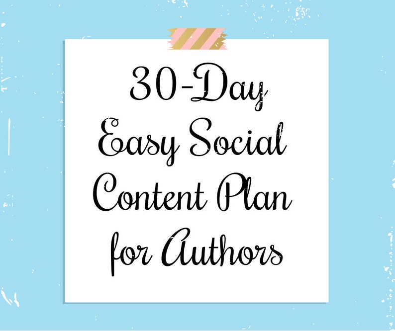 30-Day Easy Social Content Plan for Authors image 0