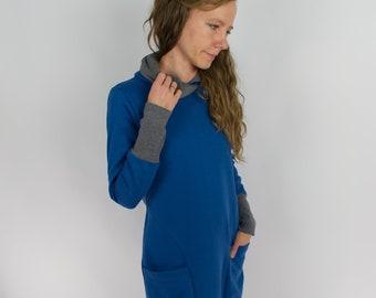 Sweater dress, royal blue