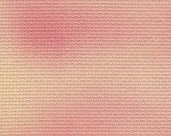 V and W Sample Size Vintage NeedleArts hand-dyed Aida cross stitch fabric 3x5 approximate size