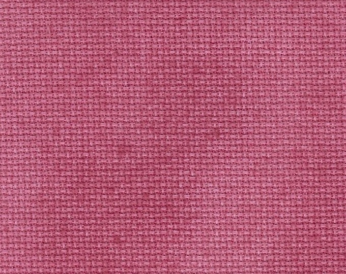 Dark Pink Opalescent Traditional Hand-dyed Aida