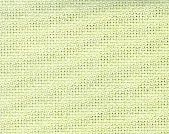 Kiwi Solid Orphan Fabric Solid Effect 18 count 11 x 15